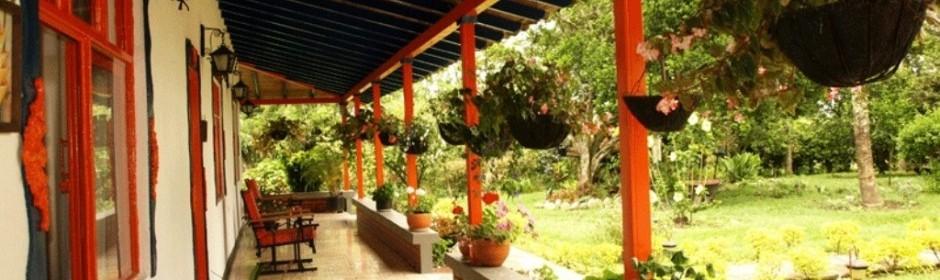 Corredor y vista al jardín.  Fuente: carmendelpinar.com